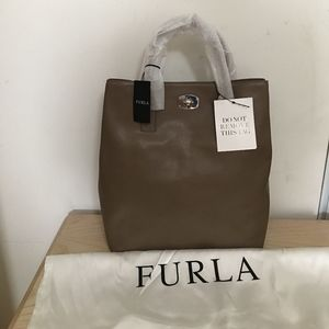 NWT Brand New FURLA 'Apaloosa' Tall Leather Tote